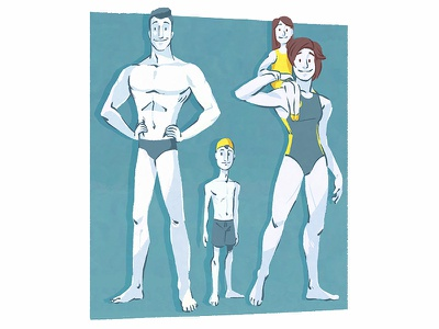 Olympic Swimmers drawing olympic swimming design illustration