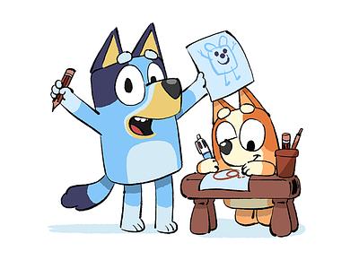 Bluey brisbane childrens illustration dog photoshop illustration illustrator bluey