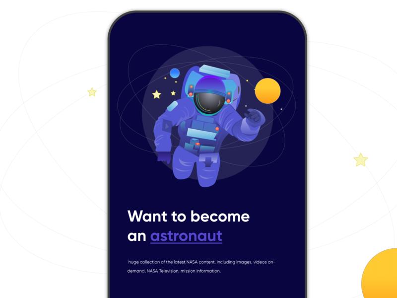 astronaut design website branding android logo illustration creative typography astronaut ux ui space