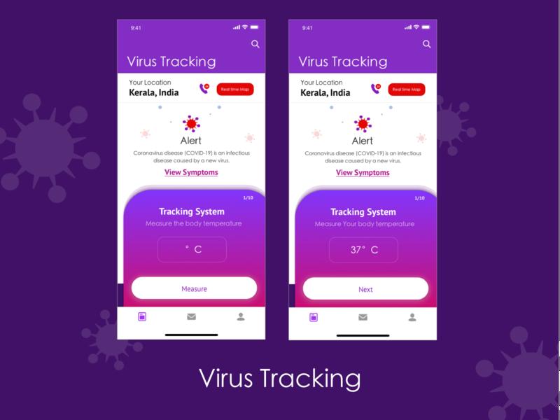 Virus tracking remote working uplabs linkedin virus tracking virus app uiux branding ui design creative ux