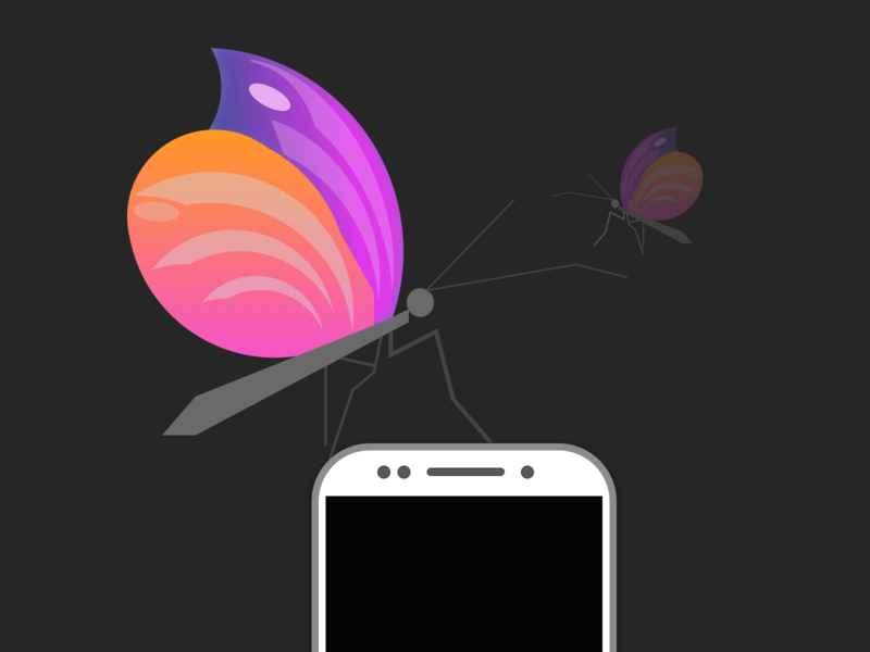 butterfly3200 mobile app creative uplabs vector illustration art ios icon illustrator