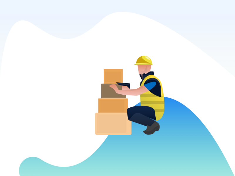 logistics illustration app uiux branding ui design creative