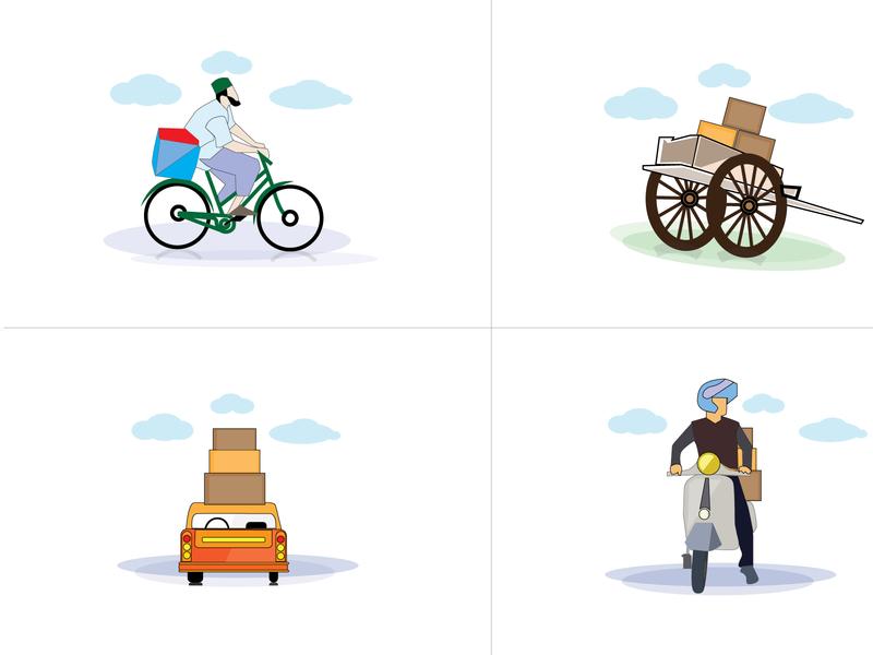 illustration domestic urban design identity icon branding logistics artist illustrations illustrator