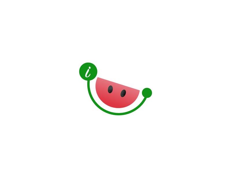 ismile_logo  youtubechannel creative ui femine watermelon smileys ismile smile youtube