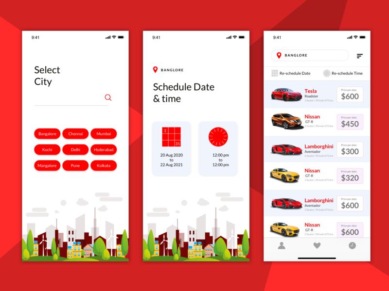 car rental app uplabs concept finding city ecommerce rental car uiux website typography design creative ux