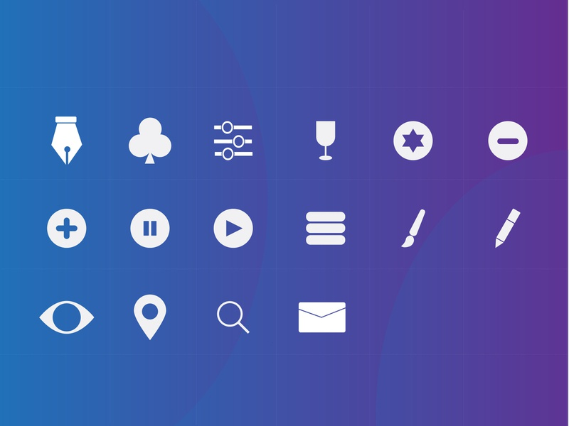 icon illustration logo gradient white flatdesign freepik illustrator iconography social iconset