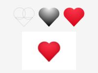 <3 illustration logo design simple shapes iconart heart icon love