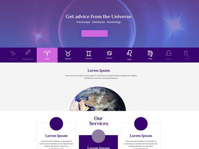 zodiac website vector app ads logo branding design typography creative ux