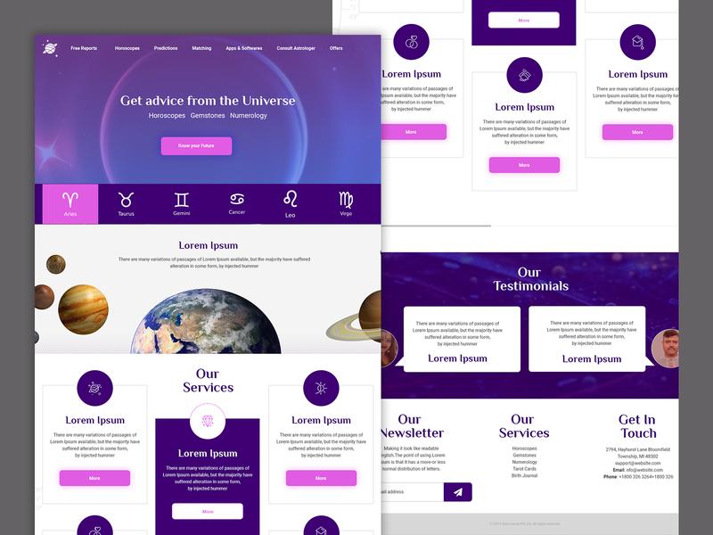horoscope rebound material bootstrap responsive design web uiux logo website branding design typography creative ux