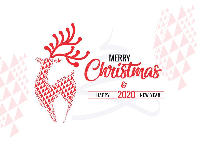 christmas xmas party xmas 2020 newyear raindear christmas card christmas illustrator