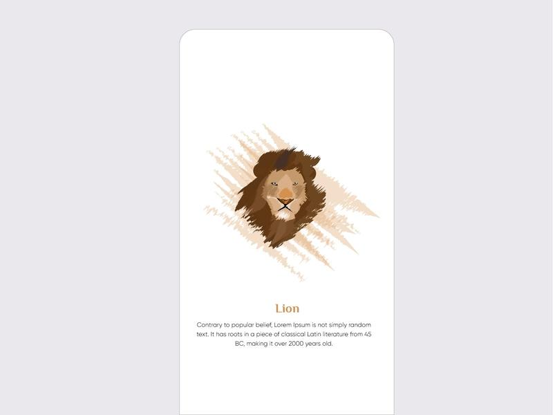 Lion logo ios interface illustrator illustration icon graphics flat design branding design brand app