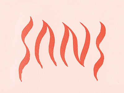 Inferno Sans sans lettering brush calligraphy diablo