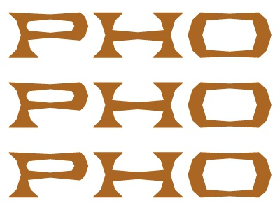 PHO pho noodles typecooker serif geometric hanoi