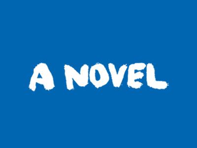 A Novel handwritten brush lettering marker book cover