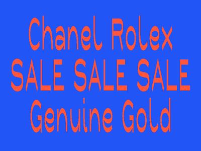 SALE SALE SALE chanel rolex genuine gold stretch kitsch type design