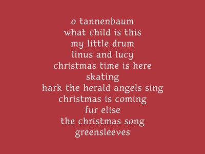 Skating type design christmas upright italic charlie brown