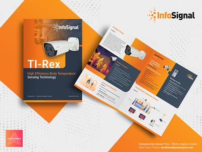 InfoSignal Bifold Brochure graphicdesign a4 brochures print design print graphic design layout  format brochure brochure template brochure mockup brochure design