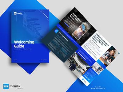 Mendix Corporate Welcome Guide a5 brochure format a4 brochures print brochure layout  format print brochure design bifold brochure graphic design desktop publishing brochure print design