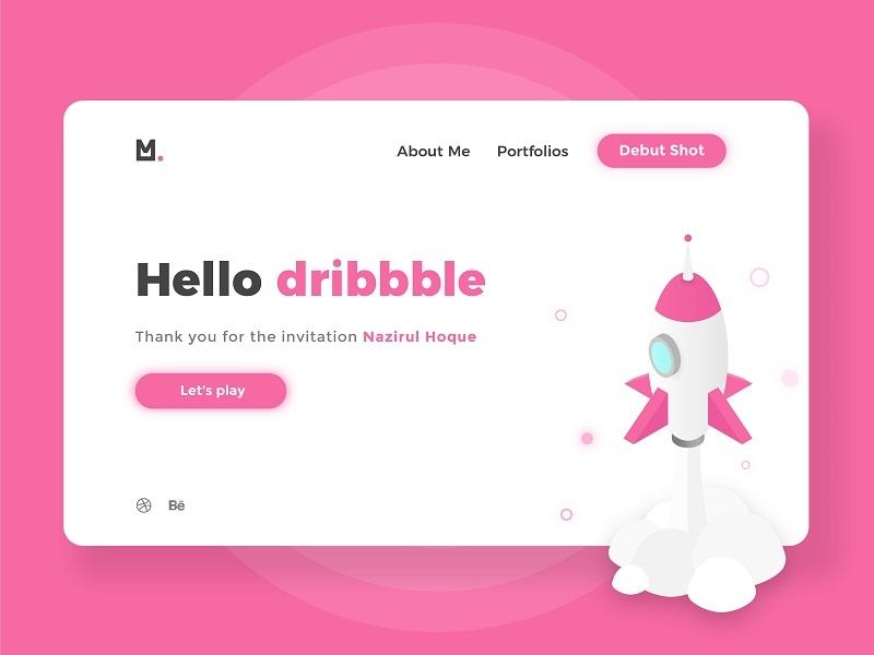 Hello dribbble ! ux ui web design illustration graphic design debut