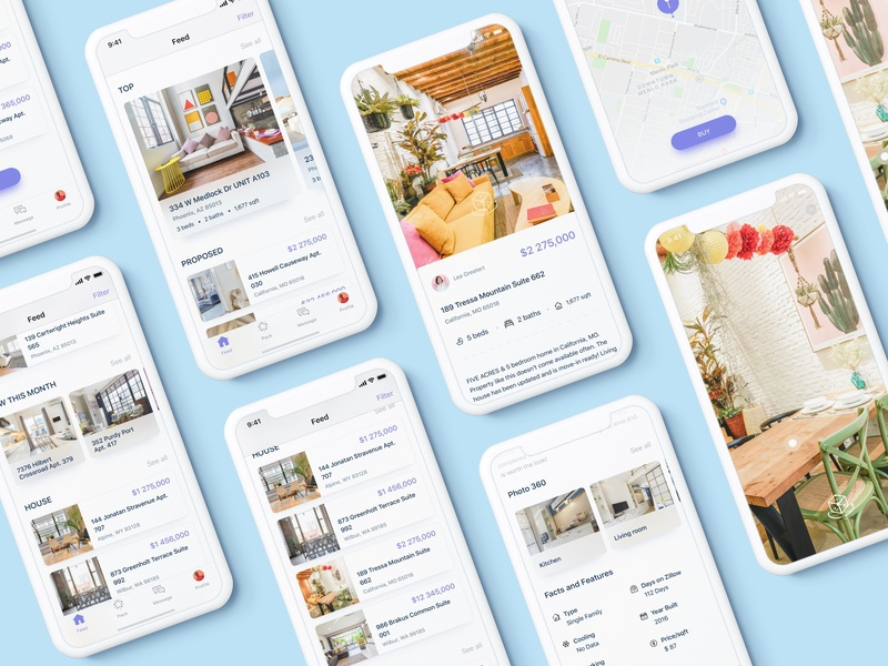 Real Estate App Property  - Search with 360 view