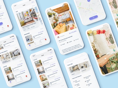 Real Estate App Property  - Search with 360 view ux ui property app concept mobile ios experience design app