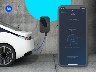sonnenCharger | App behance chart globe power mode smart charger ride sun car electric renewable energy charts boldare