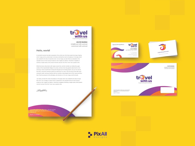 """Stationery Design for """"Travel With Us"""""""