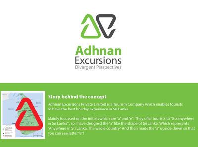 """Logo Design for """"Adhnan Excursions Private Limited"""" - Colombo"""