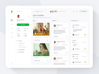 Armut Redesign - Dashboard Concept design web service app desktop userinterface app design product dashboad ux ui
