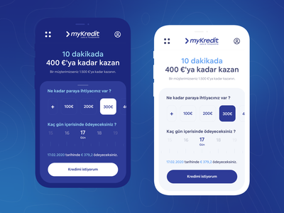 myKredit Mobile Website Redesign ux uı uxdesign product design redesign concept mobile app banking calculate credit bank mobile website webdesign mobile uiux uıdesign