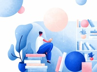 Books App Illustration