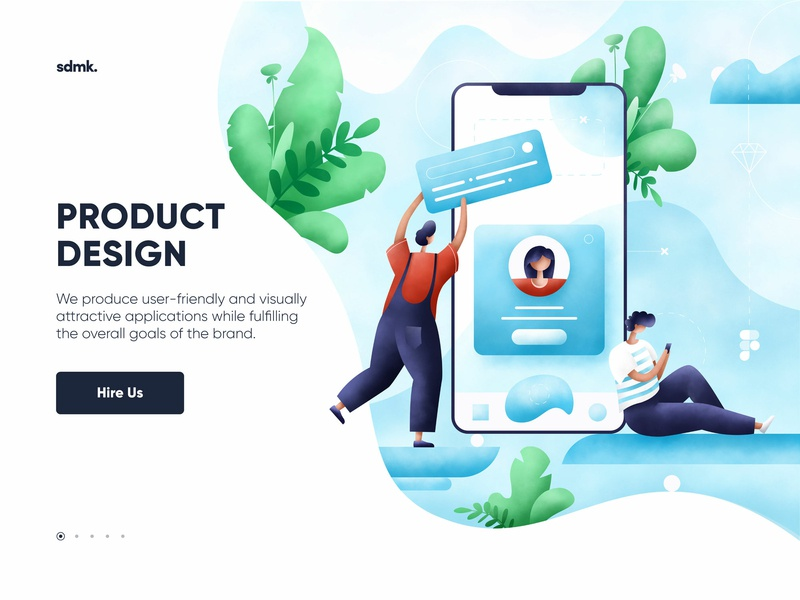 Product design illustration mobile art character app product design web ui people leaves plants design illustrator illustration