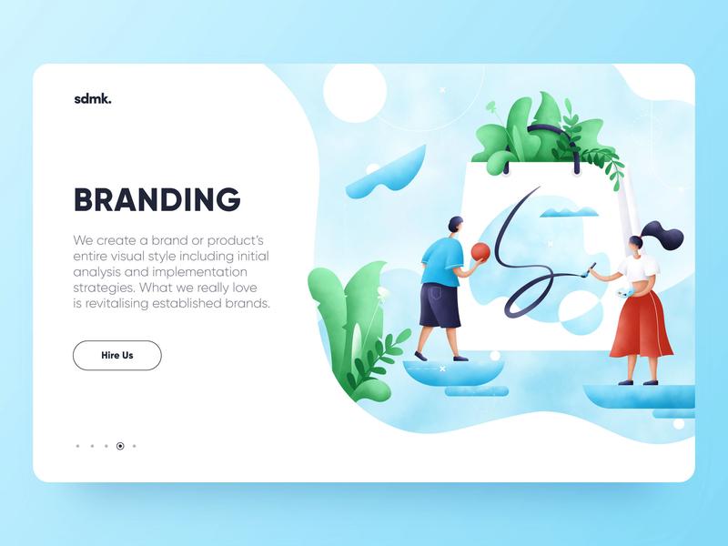 Branding illustration abstact draw graphic procreate web plants character art branding ui design grain people illustrator illustration