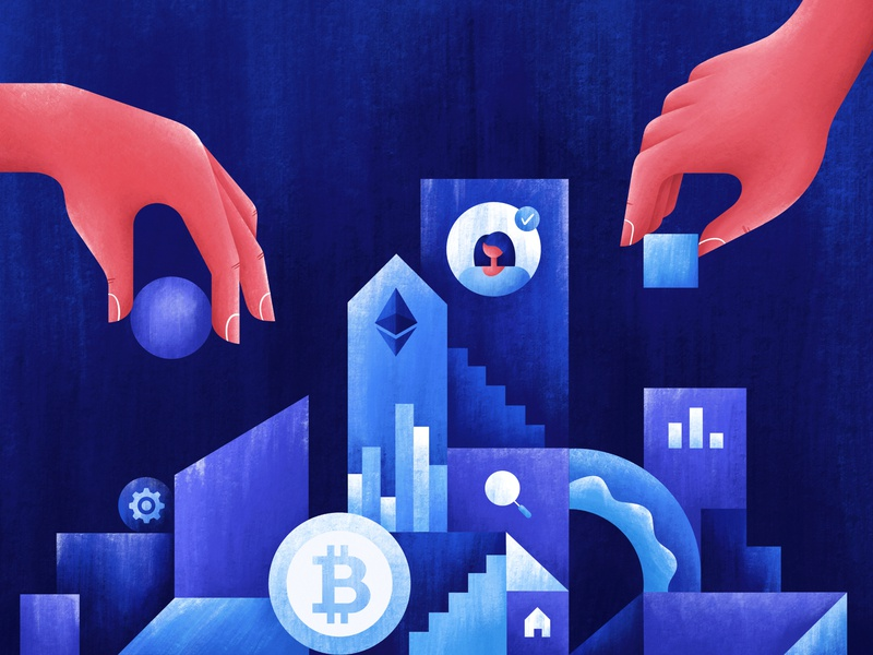 How to build a remote company texture coin bitcoin build business company geometry abstract branding ui procreate web character art design illustrator illustration