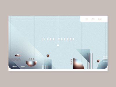 Portfolio - home gradient portfolio ui vector illustration geometry webdesign web motion inspiration daily design animation
