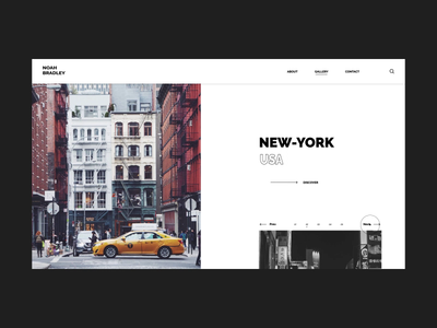 photographer template gallery branding portfolio minimal webdesign web motion inspiration design daily animation