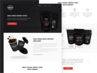 Coffee Landing Page Design