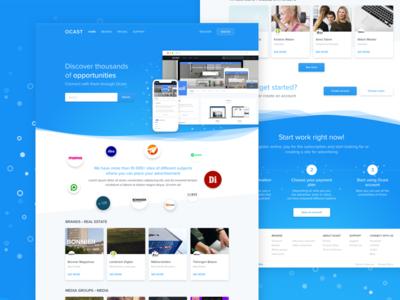 Saas blockchain solution soft simple blue blockchain ux ui design web saas