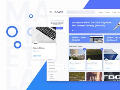 Marketplace Web Page soft simple blue ux ui design web shop marketplace