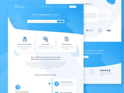 Rent apartment service for students soft simple ux ui design graphic blue