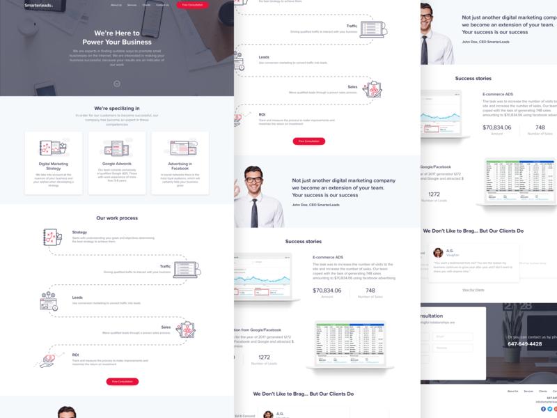 SmarterLeads | Marketing Agency simple webdesig agency marketing