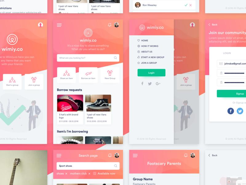 Sharing mobile app | User Interface stuff illustration colorfull ux designer ui ux ui sharing mobile app mobile