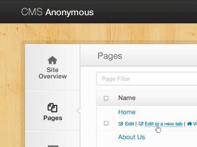 Multi-site CMS cms ui interface twitter bootstrap app web app