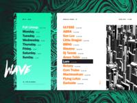 Festival Lineup Concept