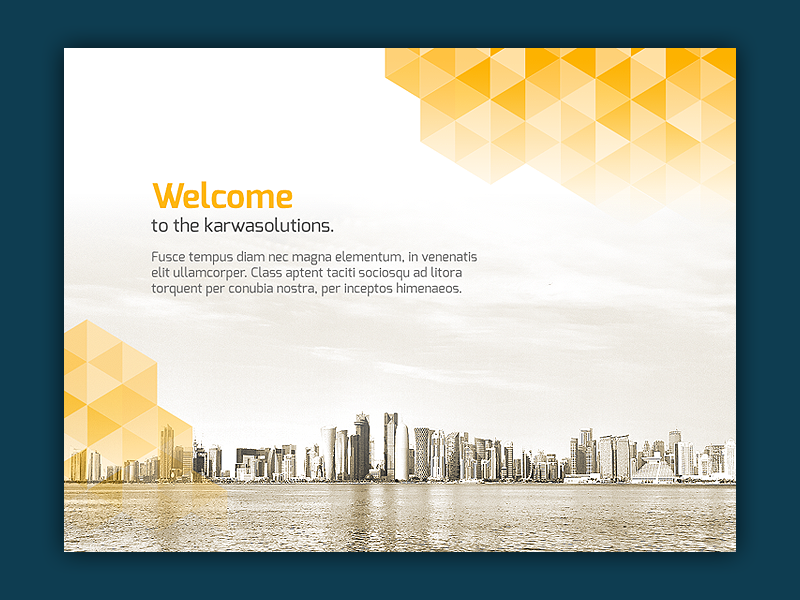 Presentation Template Title Page By Dk On Dribbble