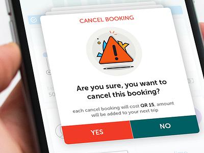 Cancel Dialogue cards ios booking cancel icons layover popup dialog ui uxd design iphone