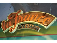 La France Cafe & Crepe Wooden Sign