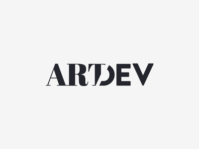 logos artdev wordmark