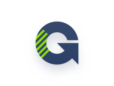 Generator logo Mark arrow g icon bookmark mark logo