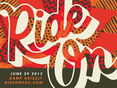 Ride On PDX ride on pdx portland skateboard custom art artist gallery show typography lettering design patterns